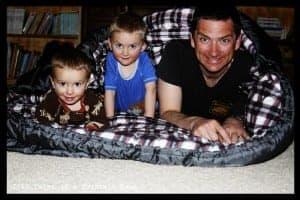 Teton Sports Mammoth fits 2 kids and 1 adult well
