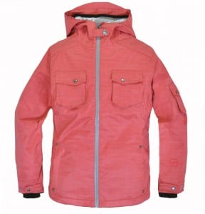 Women's Toaster Jacket in Raspberry (front)