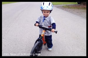 P wearing the Bob helmet - the smallest one that Lazer Sport makes