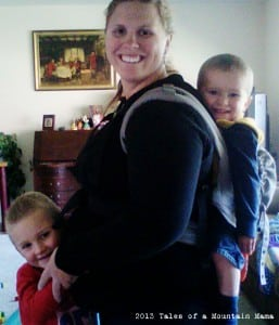 All 3 kids (aged 4, 2 and 28 weeks pregnant with #3)