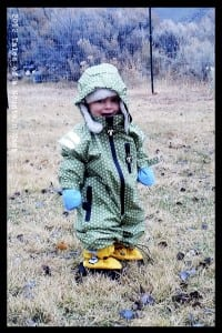 Stonz Booties + DucKsday Rainsuit and lots of layers!