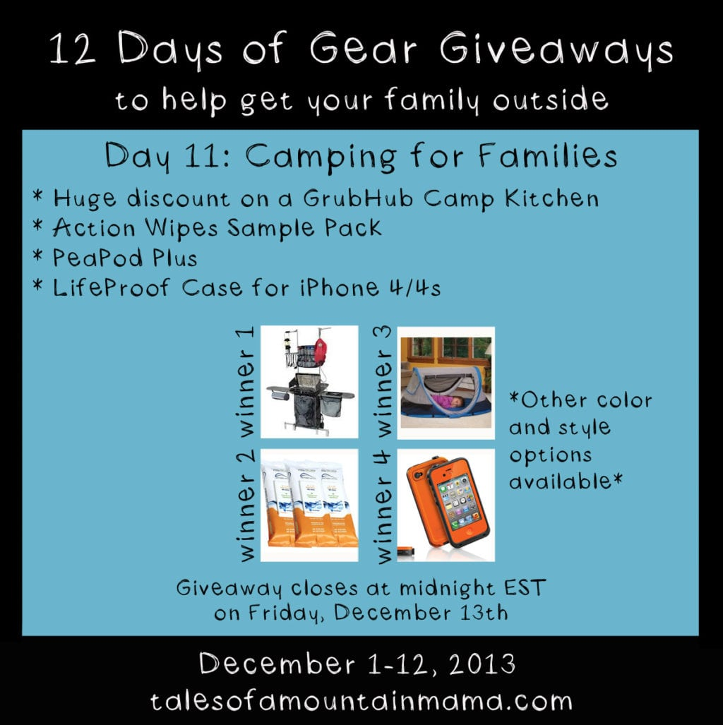 12 Days of Gear Giveaways Day 11: Camping for Families