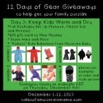 12 Days of Gear Giveaways Day 3: Keep Kids Warm and Dry