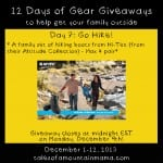 12 Days of Gear Giveaways Day 7: Get out and HIKE!