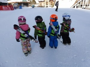 We haven't tried this yet, but love how kids could carry their own skis too! Thanks to KinderLift for sharing the photo.