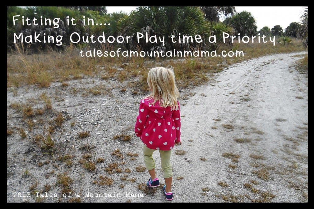 Fitting it in - Outdoor Playtime