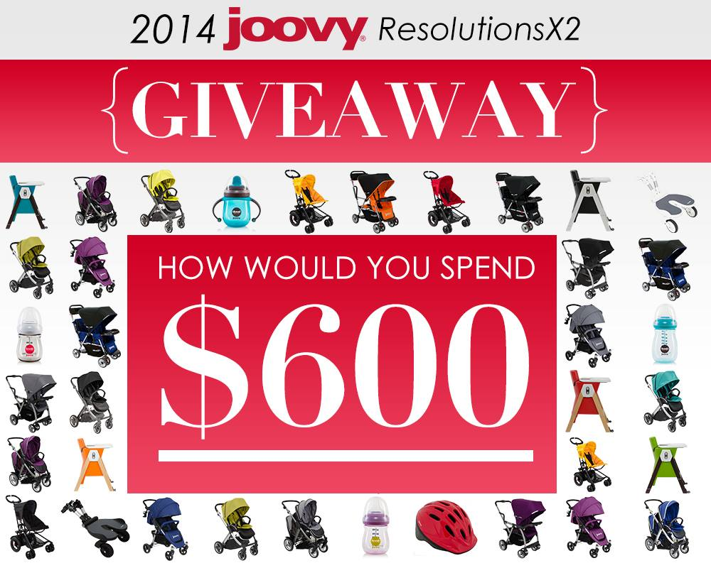 Joovy 2014 ResolutionsX2 + Giveaway