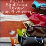Real Food. Real Energy. *Kate's* Review and Giveaway