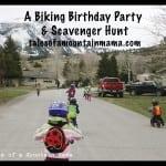 Active and Outdoor Birthday Parties – Biking Scavenger Hunt