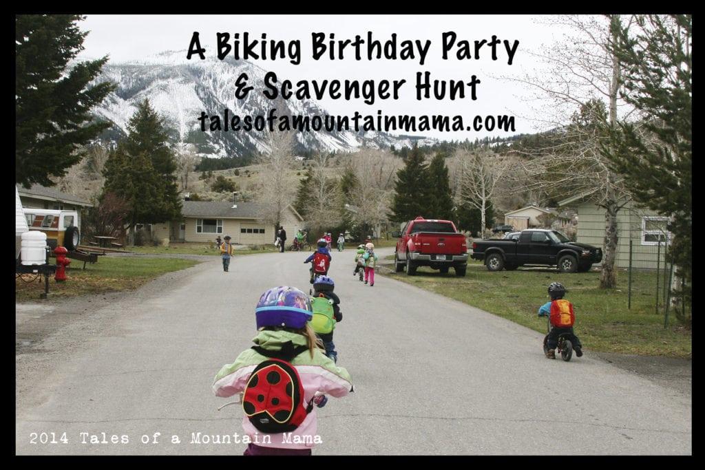 Active and Outdoor Birthday Parties - Biking Scavenger Hunt
