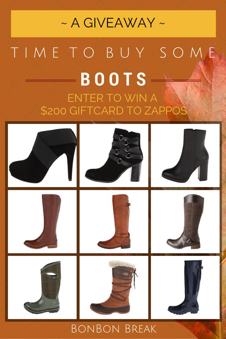 It's Time to Buy Some Boots! *Giveaway*