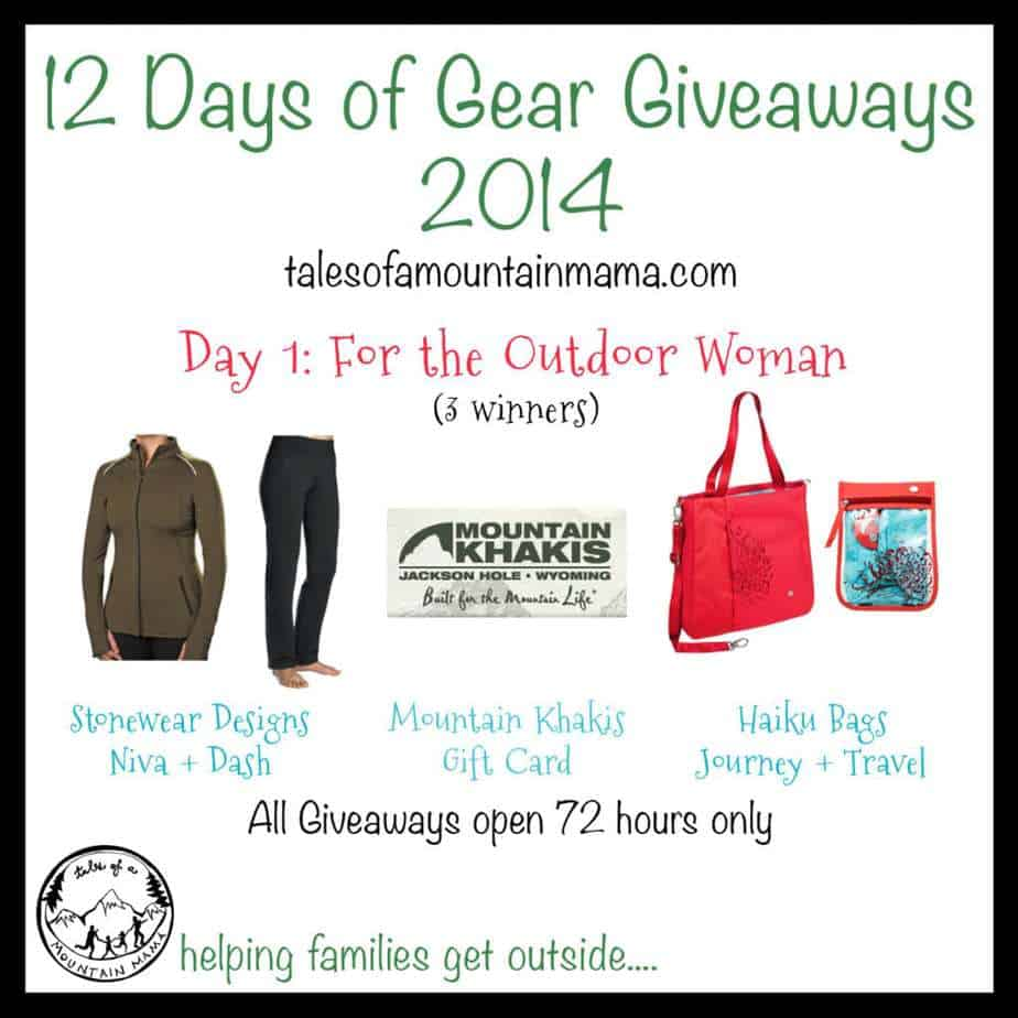 12 Days of Gear Giveaways: Day 1 - For the Outdoor Woman