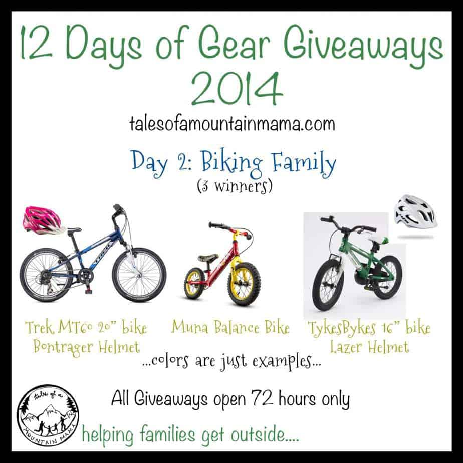 12 Days of Gear Giveaways: Day 2 - Biking Family