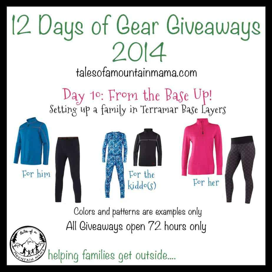 12 Days of Gear Giveaways: Day 10 - Base layers for a whole family!