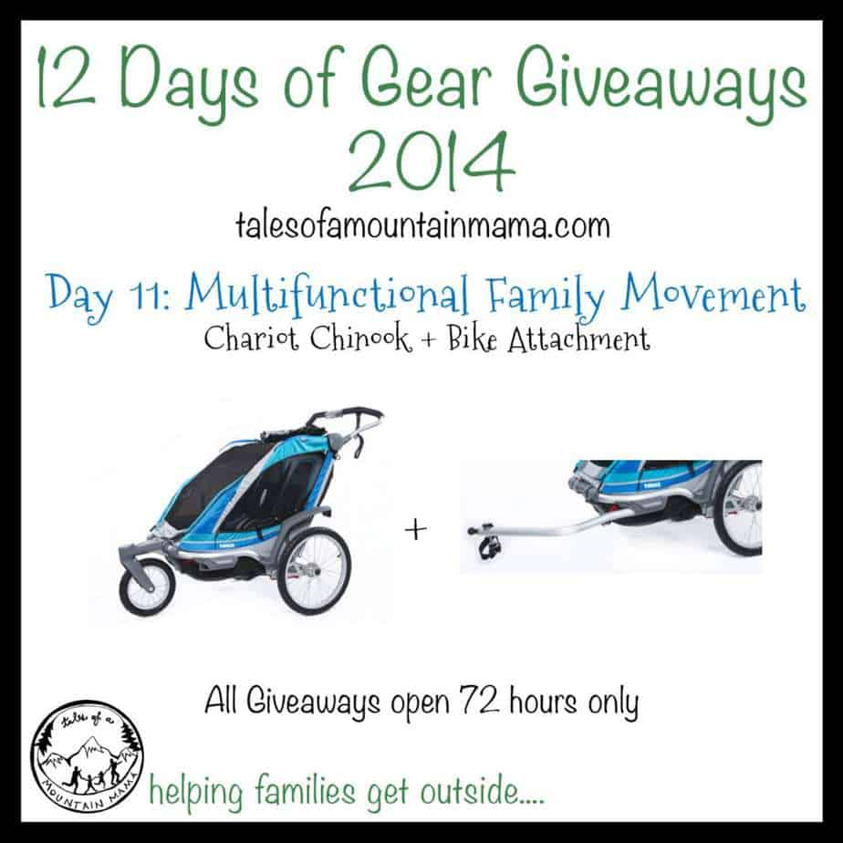 12 Days of Gear Giveaways: Day 11 - Chariot Chinook