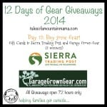 12 Days of Gear Giveaways: Day 12 – Gift Cards from Sierra Trading Post and Garage Grown Gear!