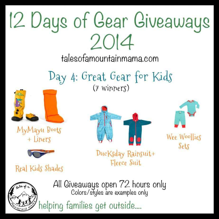 12 Days of Gear Giveaways: Day 4 - Great Gear for Kids