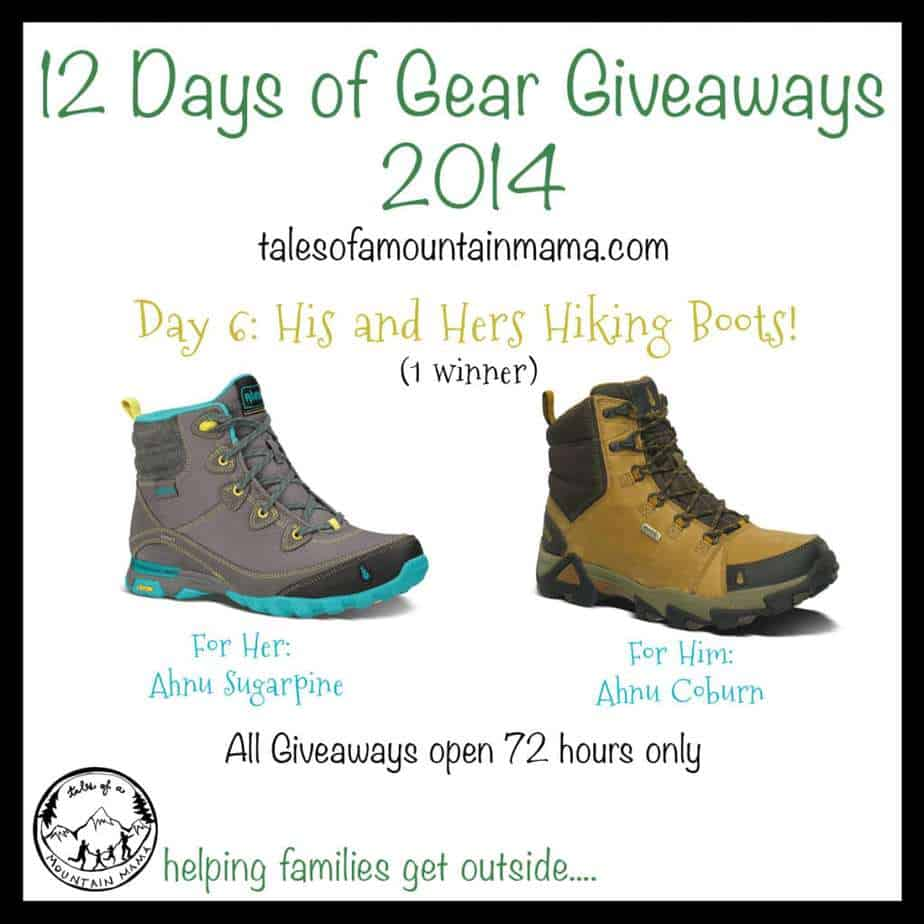 12 Days of Gear Giveaways: Day 6 - His and Hers Hiking Boots