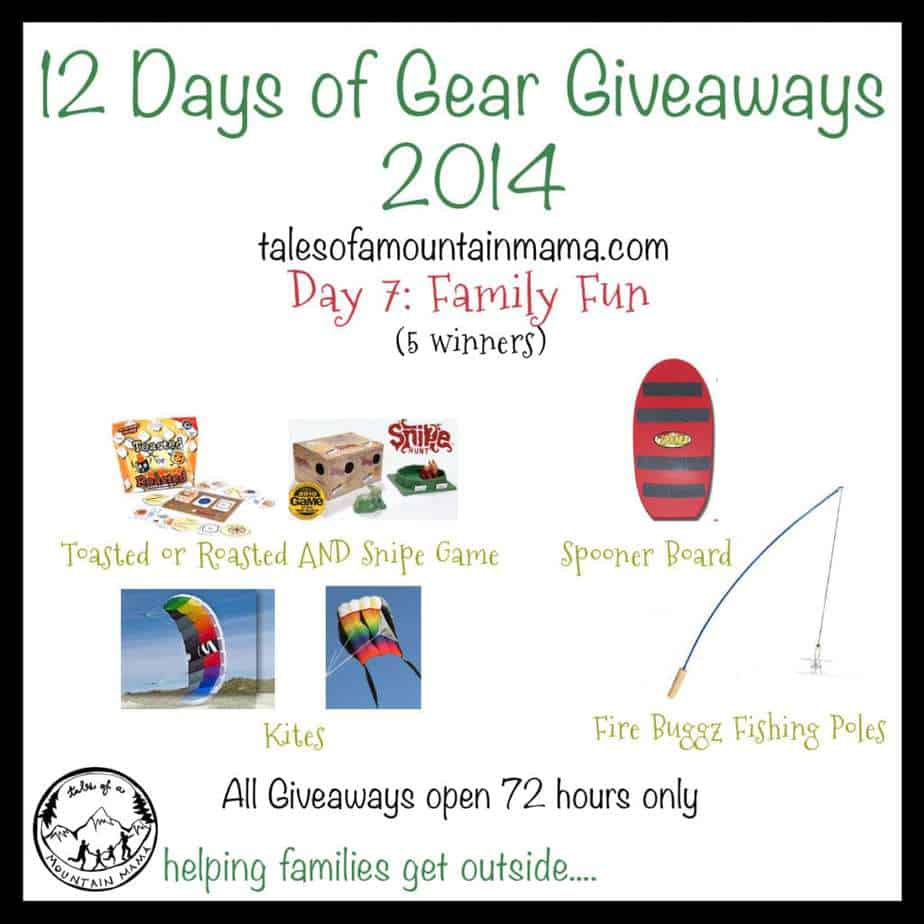 12 Days of Gear Giveaways: Day 7 - Family Fun