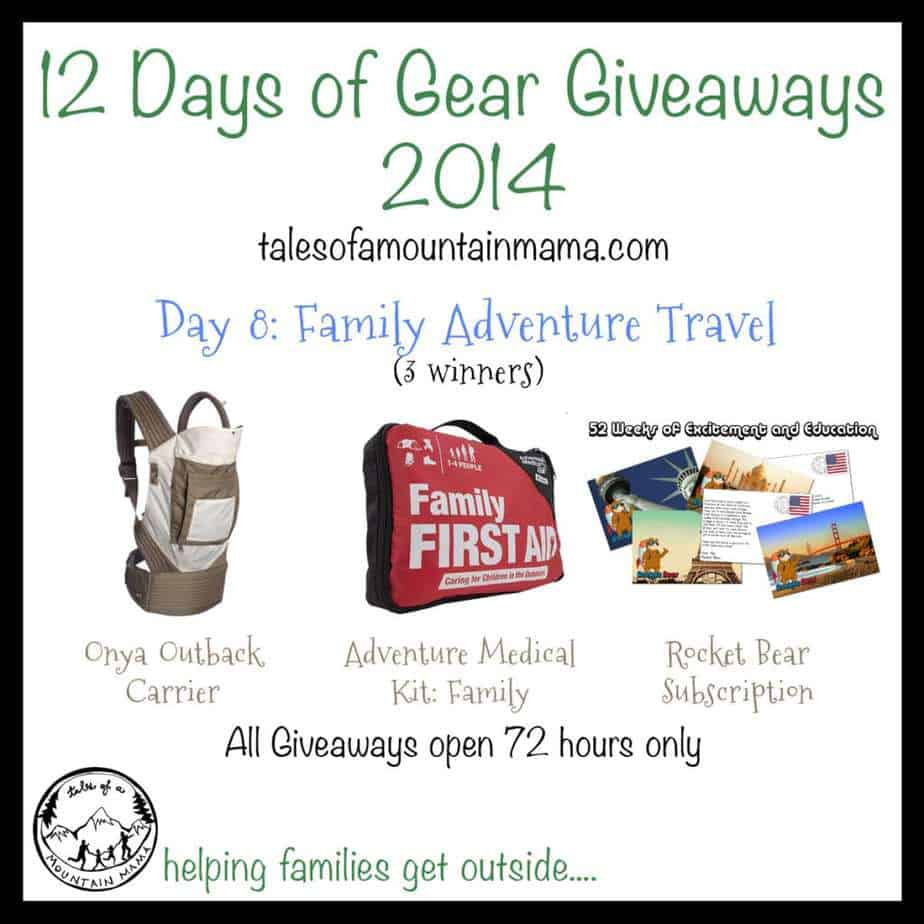 12 Days of Gear Giveaways: Day 8 - Family Adventure Travel