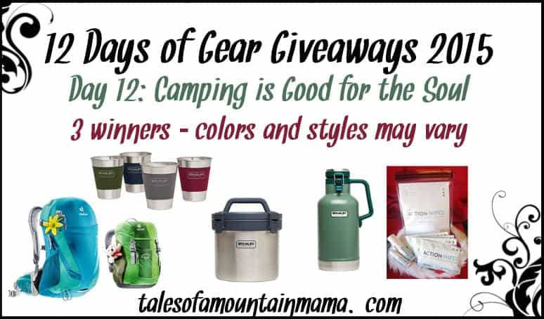 12 Days of Gear Giveaways – Day 12 (Camping is Good for the Soul)