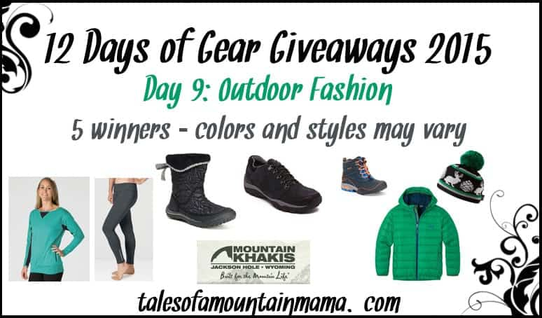 12 Days of Gear Giveaways - Day 9 (Outdoor Fashion)