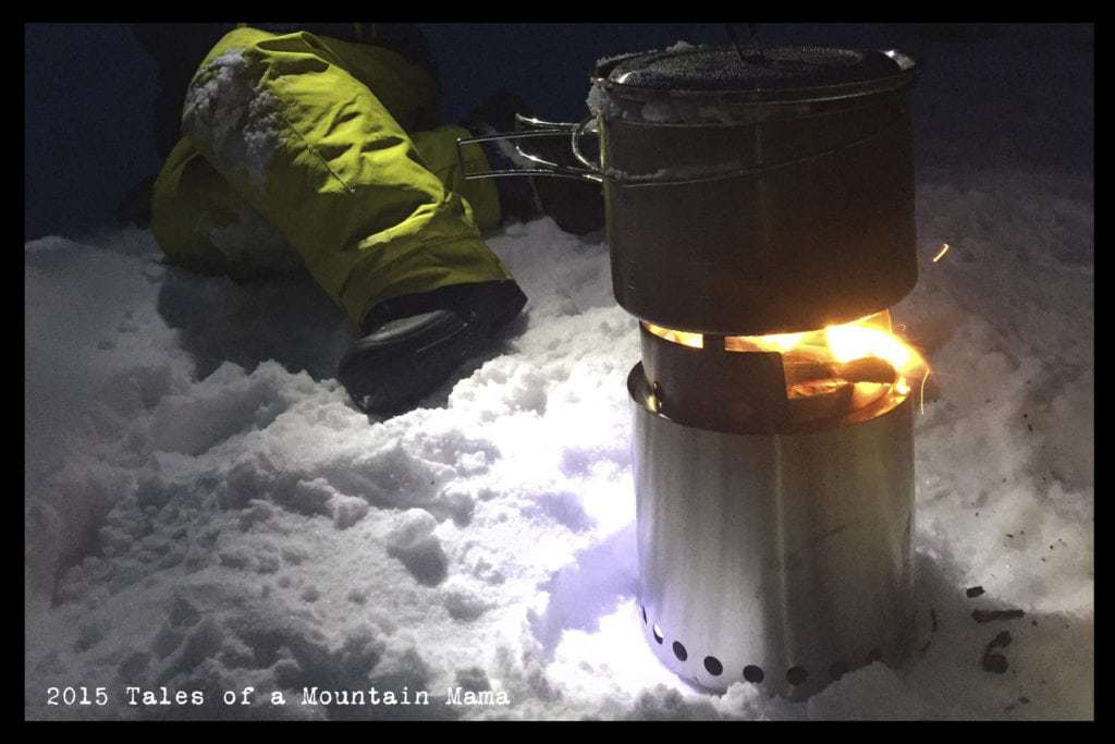 Backyard Snow Cave Camping + Solo Stove Review
