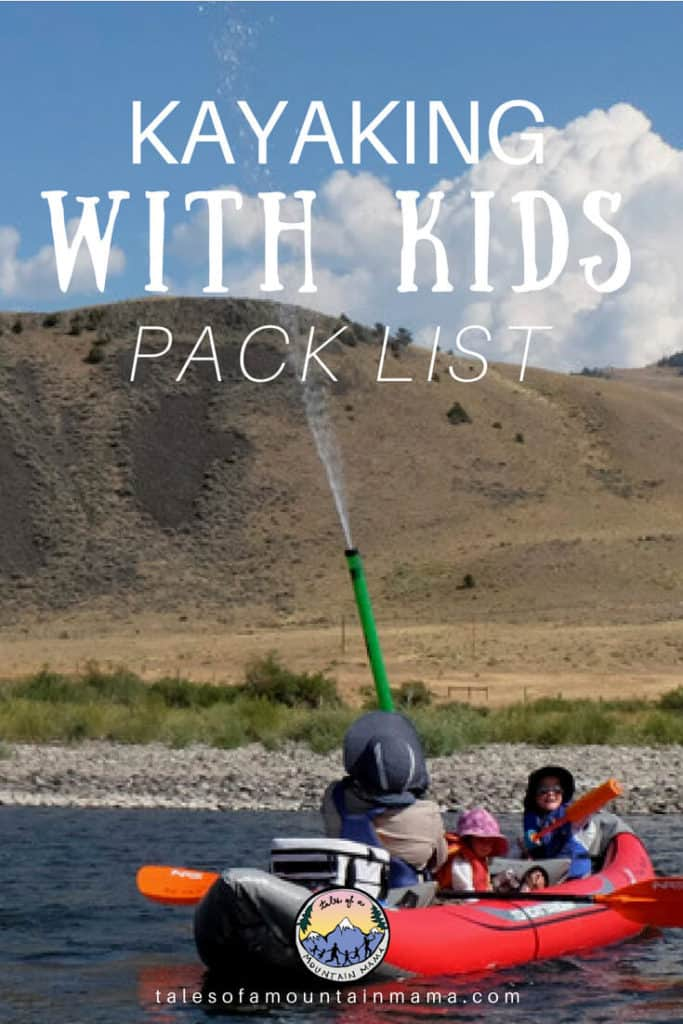 kayaking with kids pack list