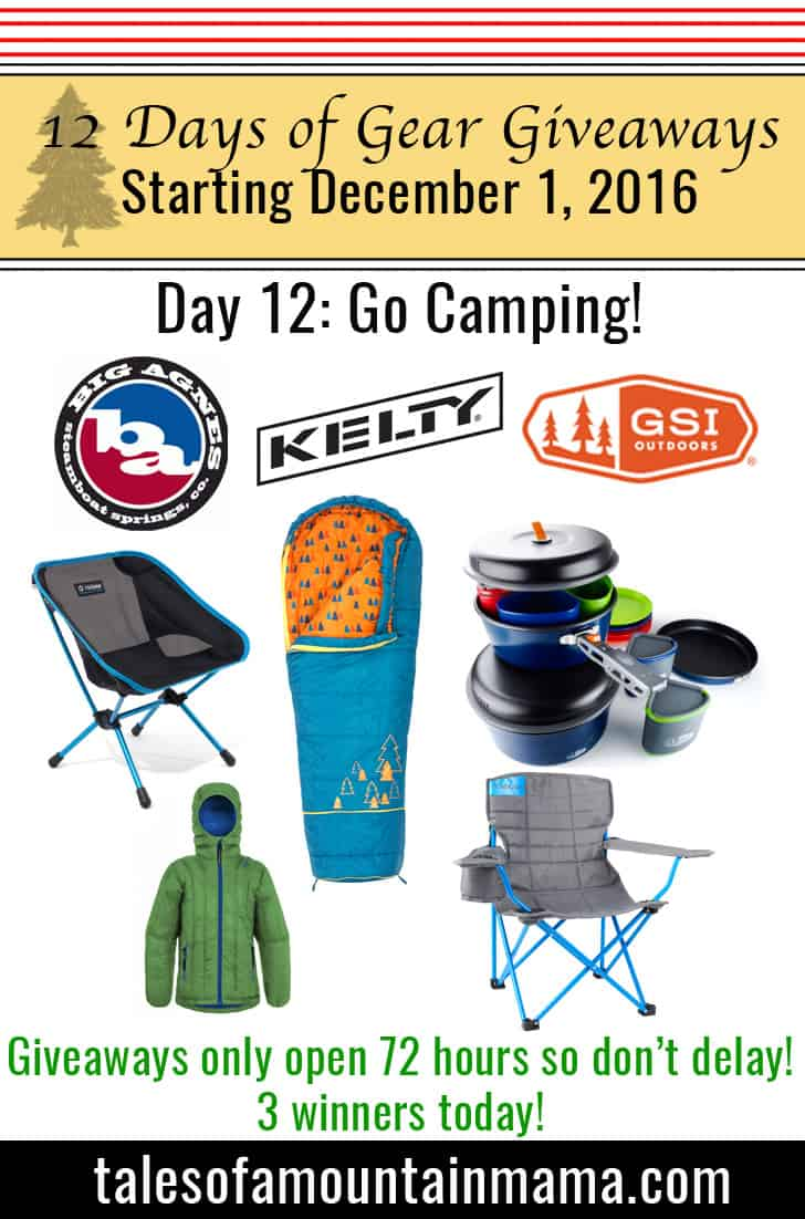12 Days of Gear Giveaways Day 12: Go Camping!