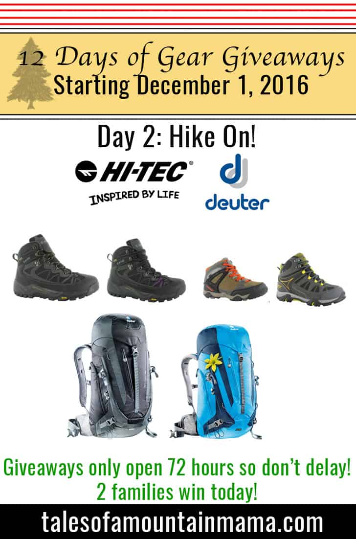 12 Days of Gear Giveaways Day 2: Hike On!