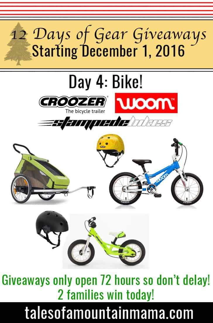 12 Days of Gear Giveaways Day 4: Biking!