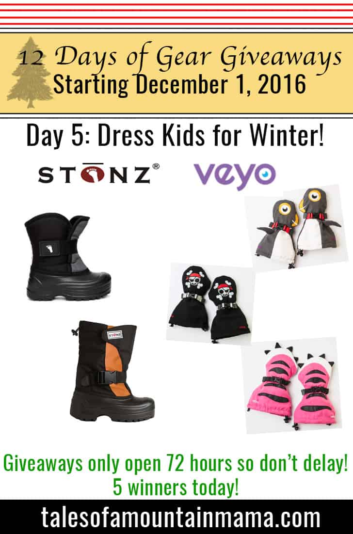 12 Days of Giveaways Day 5: Dress Kids for Winter