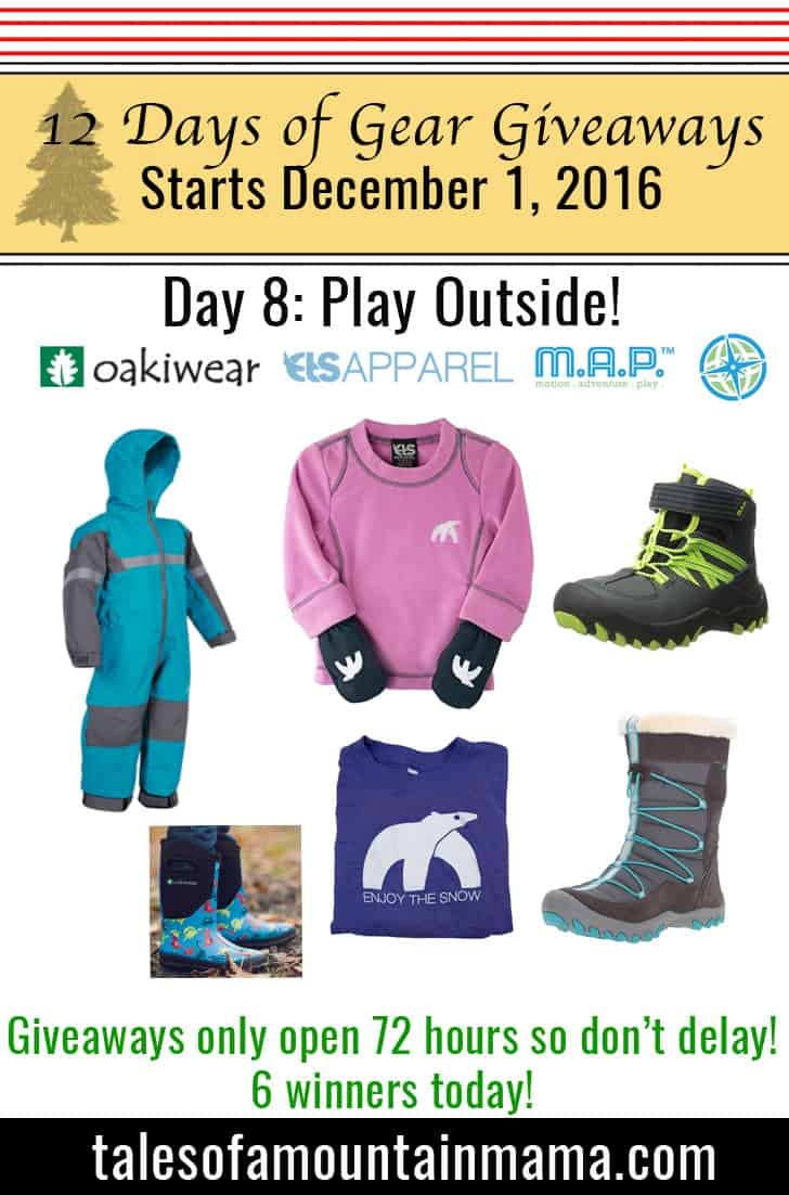 12 Days of Gear Giveaways Day 8: Play Outside