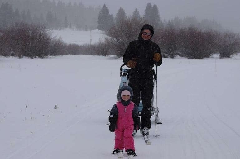 Skiing into a Cabin at the B Bar Ranch
