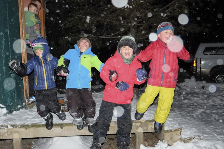 Winter Camping for Families