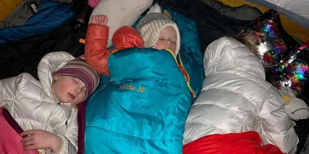 Help kids sleep when camping