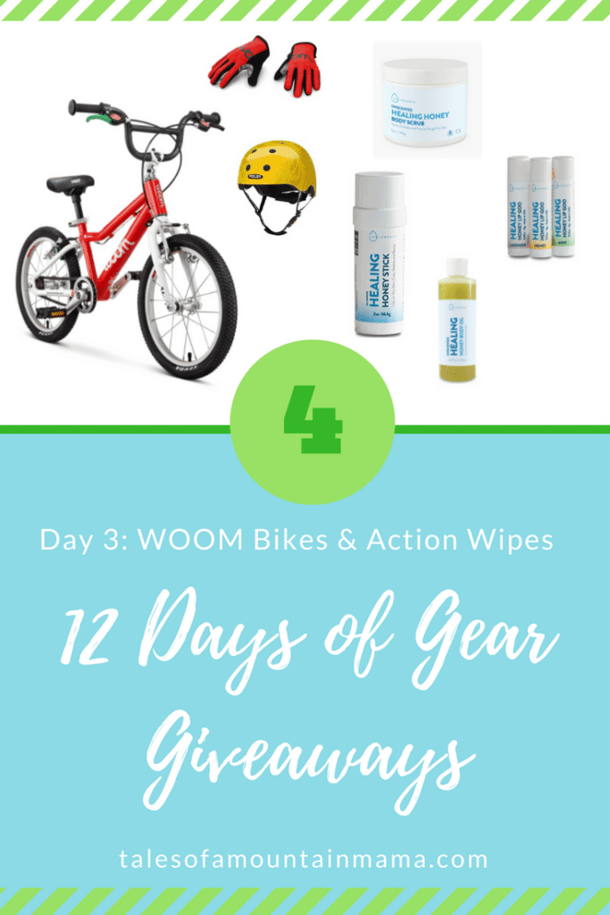 12 Days of Gear Giveaways: Day 4 *Win from WOOM Bikes & Action Wipes*