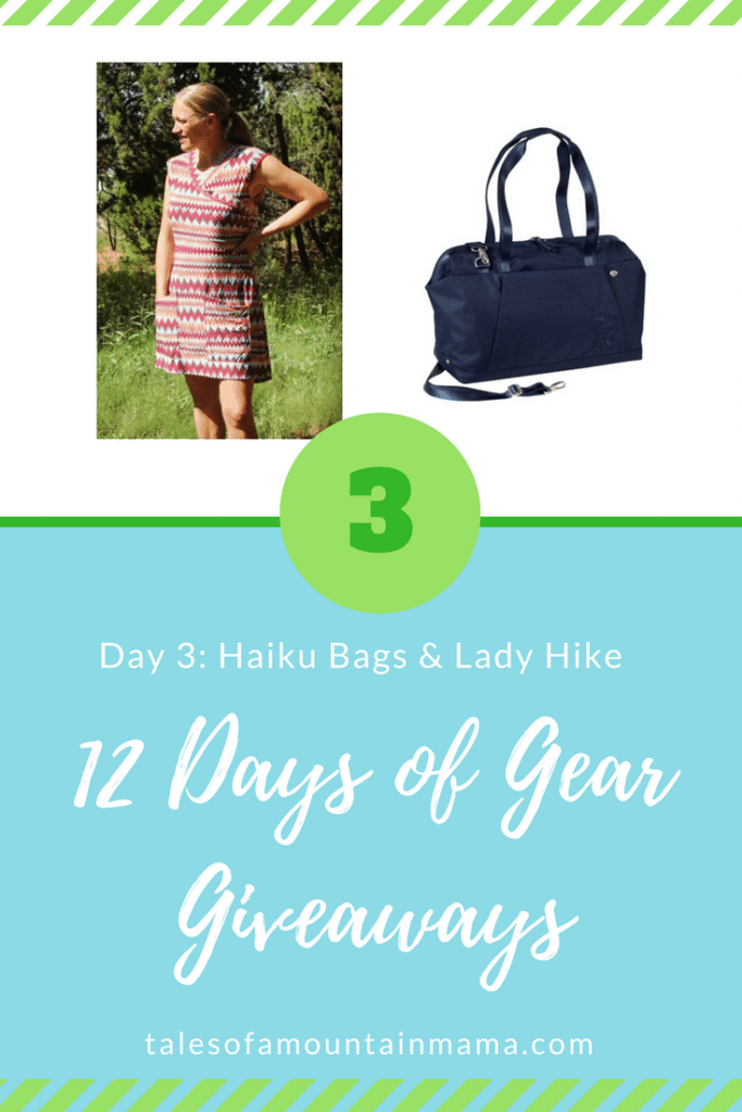 12 Days of Gear Giveaways: Day 3 *Win from Haiku Bags & Lady Hike*