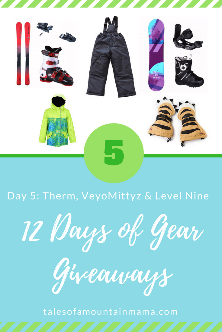 12 Days of Gear Giveaways: Day 5 *Win from Level Nine, Veyo Mittyz & Therm*