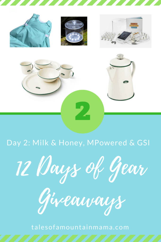 12 Days of Gear Giveaways: Day 2 *Win from MPowered, GSI & Milk & Honey