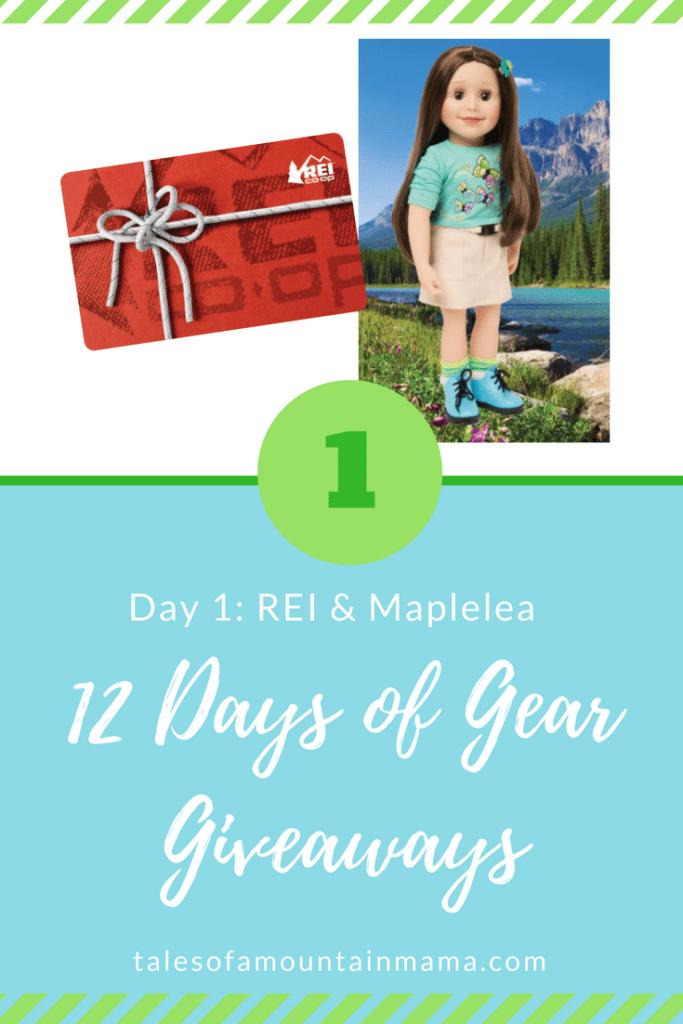 12 Days of Gear Giveaways: Day 1 *Win from REI & Maplelea*