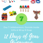 12 Days of Gear Giveaways: Day 7 *Win from Inside Outside Gifts, b4Adventure & Wrap N Snaps*