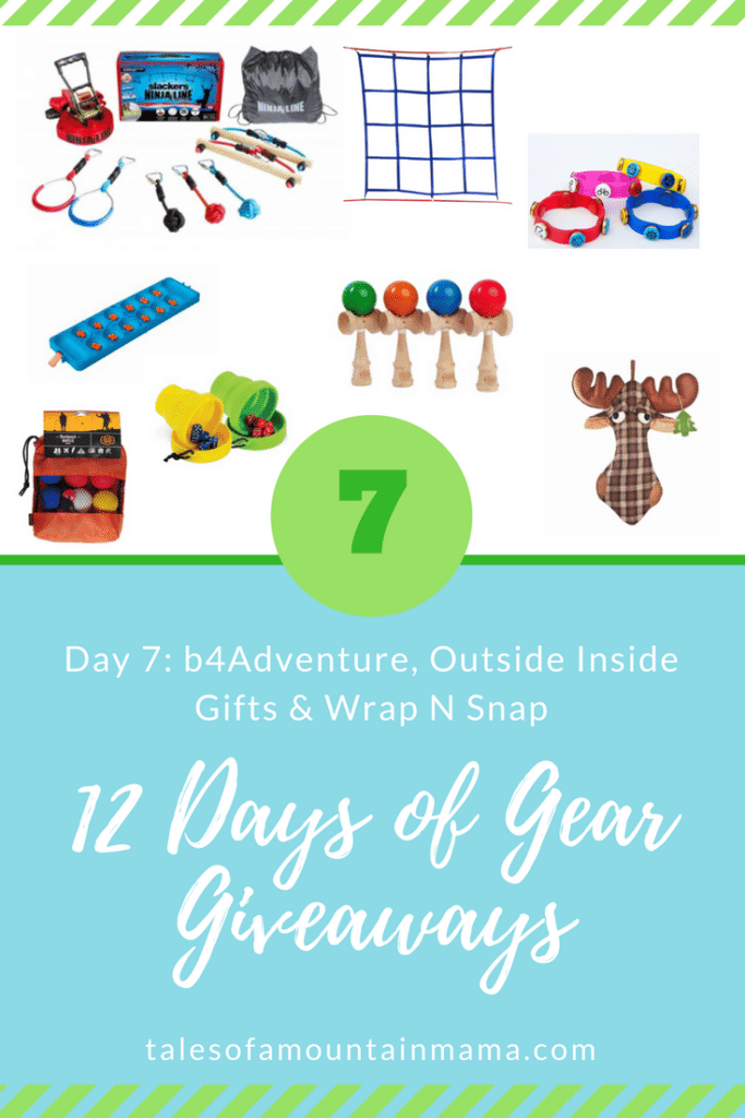 12 Days of Gear Giveaways: Day 8 *Win from Inside Outside Gifts, b4Adventure & Wrap N Snaps*