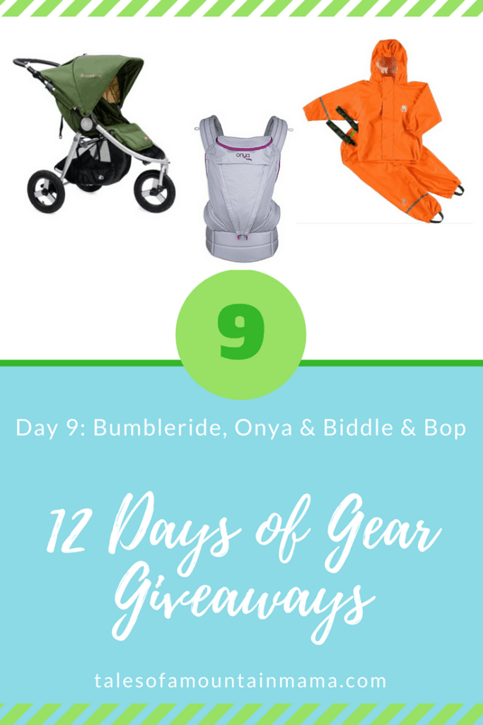 12 Days of Gear Giveaways Day 10: Win from Bumbleride, Onya Baby & Biddle & Bop