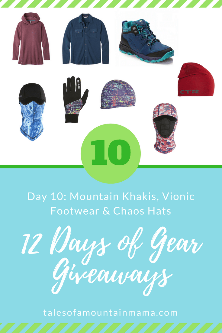12 Days of Gear Giveaways: Day 10 *Win from Mountain Khakis, Vionic & Chaos*