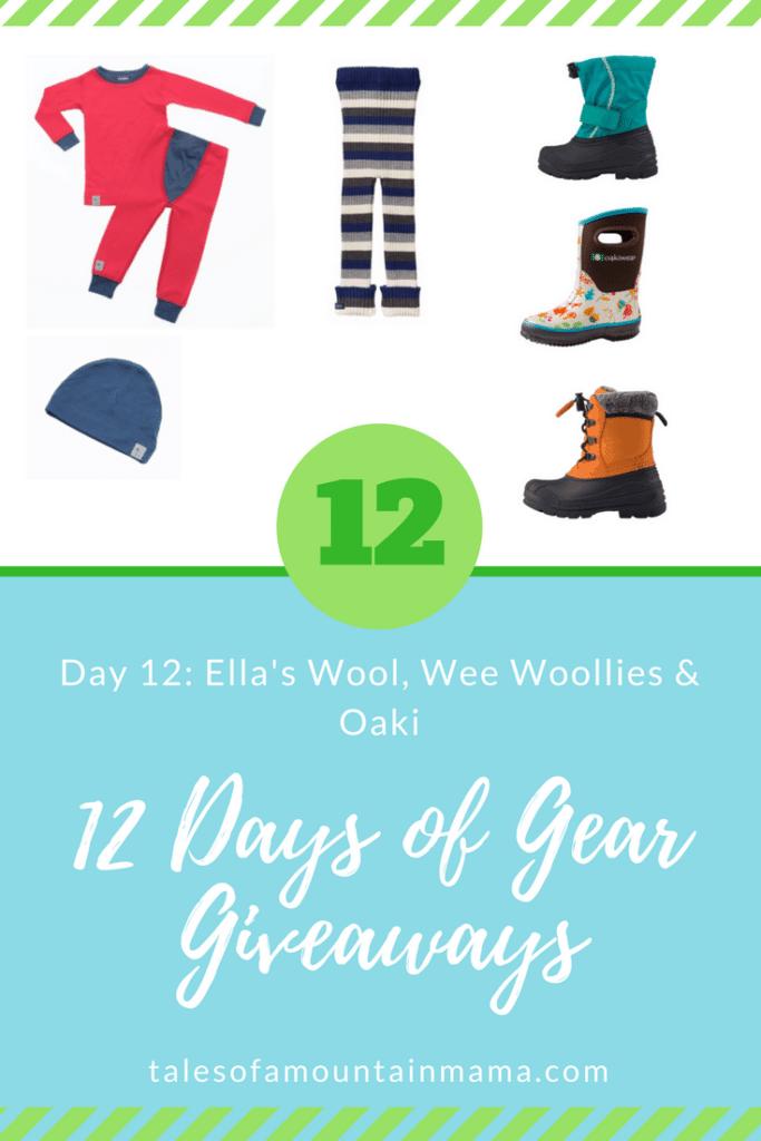 12 Days of Gear Giveaways: Day 12 *Win from Ella's Wool, Wee Woollies & Oaki*