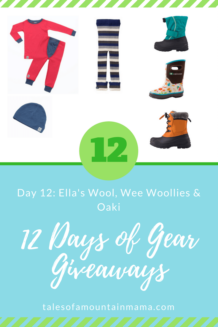 12 Days of Gear Giveaways: Day 12 *Win from Ella's Wool, Wee Woollies & Oaki*