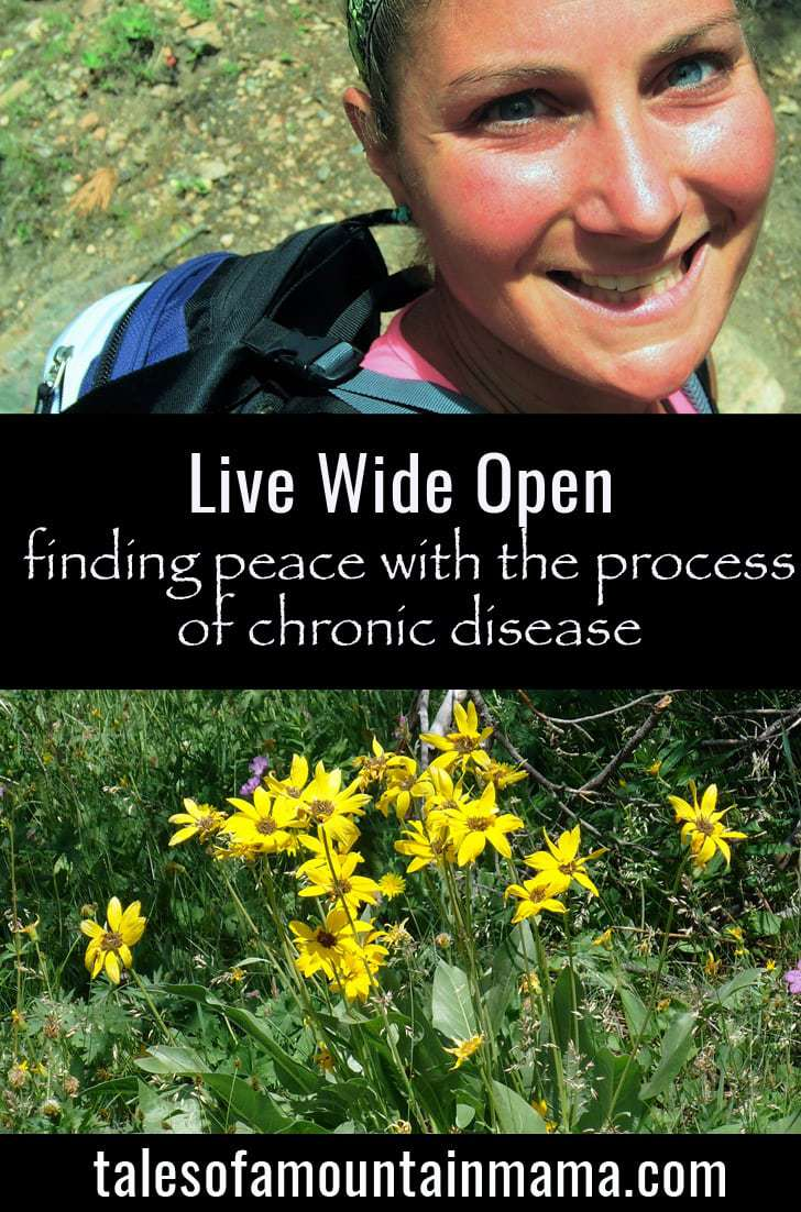 Live Wide Open: Finding Peace with the Process of Chronic Disease *Guest Post*