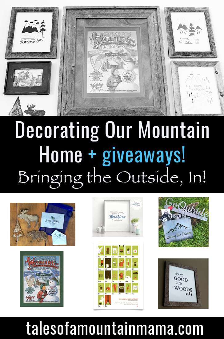 A Tour of Our Mountain Living Decor (Bringing the Outside, In!) + Giveaways!