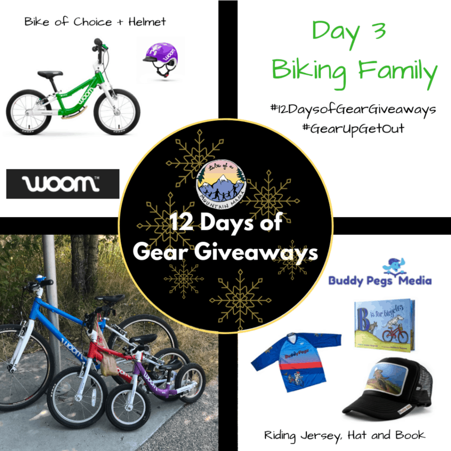 7c1f02cb5e6 Today you have a chance to win biking gear from Woom Bikes   Buddy Pegs.